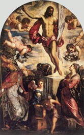 The Resurrection of Christ | Tintoretto | Painting Reproduction