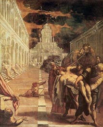 The Removal of the Body of St. Mark, c.1562/66 von Tintoretto | Gemälde-Reproduktion