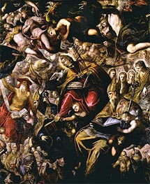 Paradise (detail) | Tintoretto | Painting Reproduction
