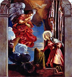 The Annunciation, Undated by Tintoretto | Painting Reproduction
