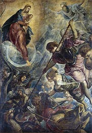 Archangel Michael Fights Satan, c.1590 by Tintoretto | Painting Reproduction