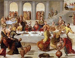 The Wedding Feast at Cana, c.1545 by Tintoretto | Painting Reproduction