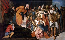 Esther before Ahasuerus, 1548 by Tintoretto | Painting Reproduction