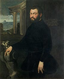 Jacopo Sansovino, Originally Tatti, Sculptor and State Architect in Venice, Undated by Tintoretto | Painting Reproduction