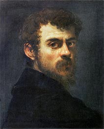 Self Portrait, c.1546/48 by Tintoretto | Painting Reproduction
