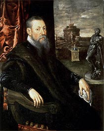 Portrait of an Art Collector, Undated by Tintoretto | Painting Reproduction