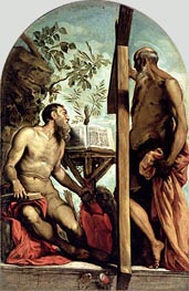 St. Andrew and St. Jerome, Undated by Tintoretto | Painting Reproduction