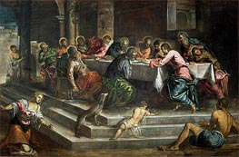Last Supper, Undated by Tintoretto | Painting Reproduction