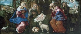 The Nativity, a.1580 by Tintoretto | Painting Reproduction