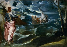 Christ at the Sea of Galilee, c.1575/80 by Tintoretto | Painting Reproduction