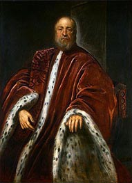 A Procurator of Saint Mark's, c.1575/85 by Tintoretto | Painting Reproduction