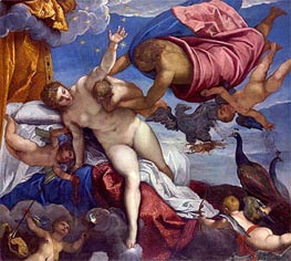 The Origin of the Milky Way, a.1575 by Tintoretto | Painting Reproduction