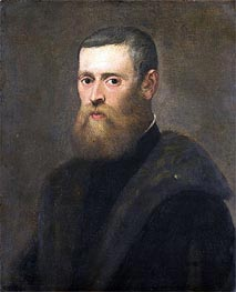 Portrait of a Man, c.1550/75 by Tintoretto | Painting Reproduction