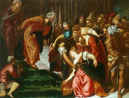Esther before Ahasuerus, c.1546/47 by Tintoretto | Painting Reproduction