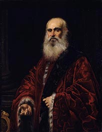 Portrait of a Venetian Patrician, undated by Tintoretto | Painting Reproduction