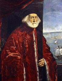 Portrait of a Venetian Procurator, undated by Tintoretto | Painting Reproduction