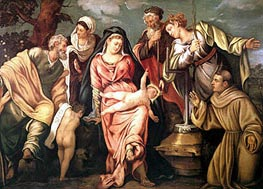 Sacra Conversazione Molin, 1540 by Tintoretto | Painting Reproduction
