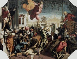 The Miracle of the Slave, c.1547/48 by Tintoretto | Painting Reproduction