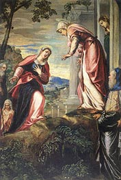 The Visitation (detail), c.1549 by Tintoretto | Painting Reproduction