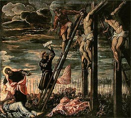 The Crucifixion of Christ, 1568 by Tintoretto | Painting Reproduction