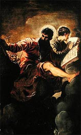 Evangelists Mark and John, 1557 by Tintoretto | Painting Reproduction