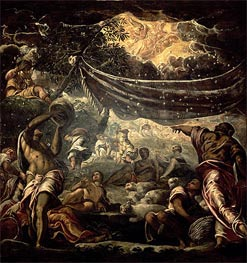 The Fall of Manna, 1577 by Tintoretto | Painting Reproduction
