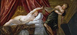 Joseph and the Wife of Potiphar, c.1552/55 by Tintoretto | Painting Reproduction