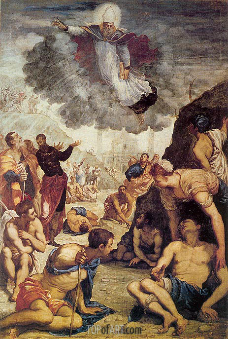 The Miracle of St. Augustine, c.1549 | Tintoretto| Painting Reproduction