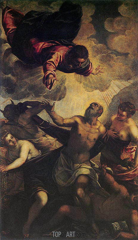 The Temptation of St. Anthony, c.1577 | Tintoretto | Painting Reproduction