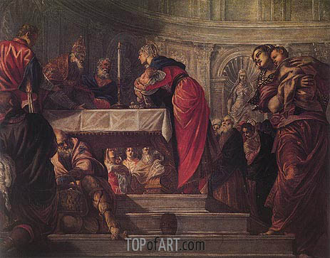 The Presentation of Christ in the Temple, c.1550/55 | Tintoretto | Painting Reproduction