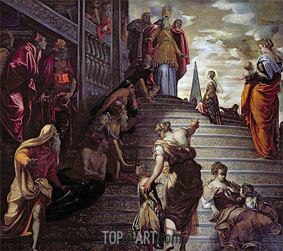 The Presentation of the Virgin, c.1553/56 | Tintoretto | Painting Reproduction