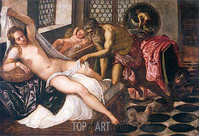 Tintoretto | Mars and Venus Surprised by Vulcan, c.1555