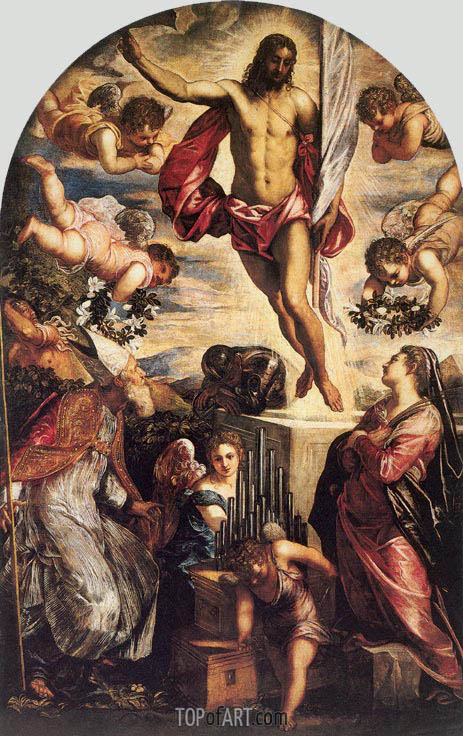 The Resurrection of Christ, 1565 | Tintoretto| Painting Reproduction