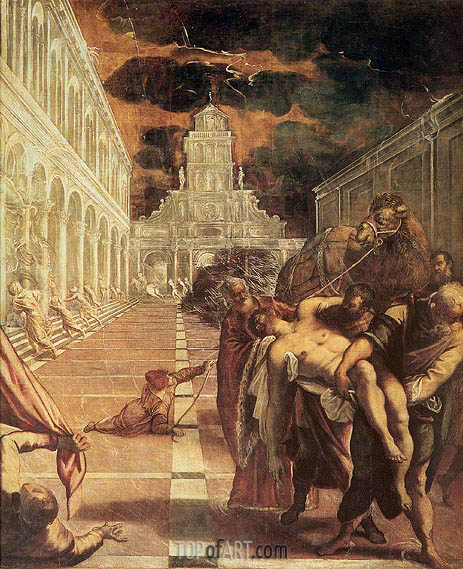 The Removal of the Body of St. Mark, c.1562/66 | Tintoretto | Painting Reproduction