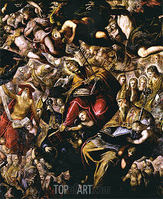 Paradise (detail),  | Tintoretto| Painting Reproduction