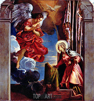 The Annunciation,  | Tintoretto | Painting Reproduction