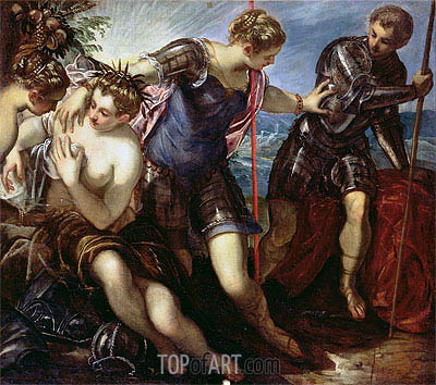 Minerva Repelling Mars, 1578 | Tintoretto | Painting Reproduction