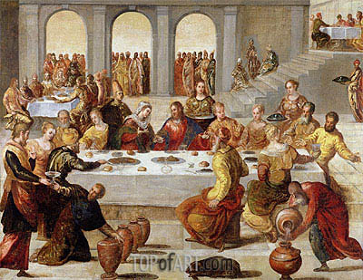 The Wedding Feast at Cana, c.1545 | Tintoretto | Painting Reproduction