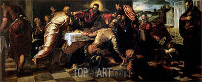 The Supper at Emmaus,  | Tintoretto | Painting Reproduction