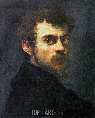 Self Portrait, c.1546/48 | Tintoretto | Gemälde Reproduktion