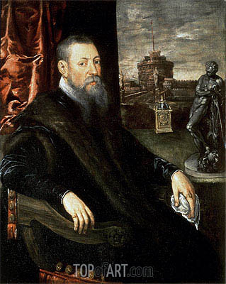 Portrait of an Art Collector,  | Tintoretto| Painting Reproduction