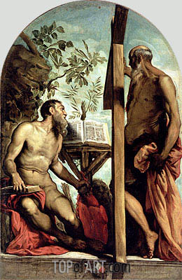 St. Andrew and St. Jerome,  | Tintoretto| Painting Reproduction