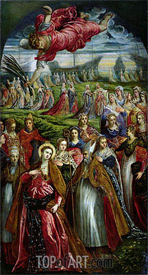 St. Ursula and the Eleven Thousand Virgins,  | Tintoretto| Painting Reproduction