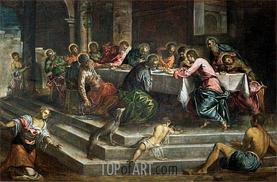 Last Supper,  | Tintoretto | Painting Reproduction