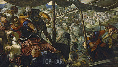 The Abduction of Helen, c.1578 | Tintoretto| Painting Reproduction