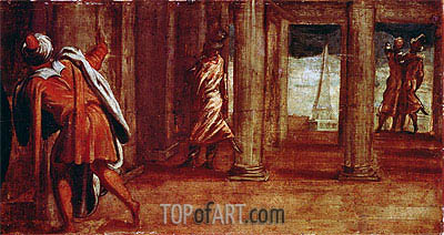 The Prostration of Bathsheba, c.1548 | Tintoretto| Painting Reproduction