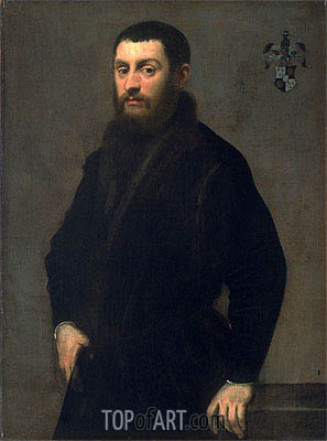 Young Man from the Renialme Family, c.1547/48 | Tintoretto | Painting Reproduction