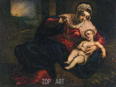 Madonna and Child, c.1570/72 | Tintoretto | Painting Reproduction