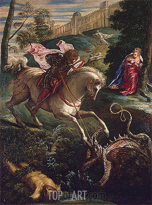 Saint George, c.1543/44 | Tintoretto| Painting Reproduction