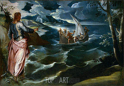 Tintoretto | Christ at the Sea of Galilee, c.1575/80
